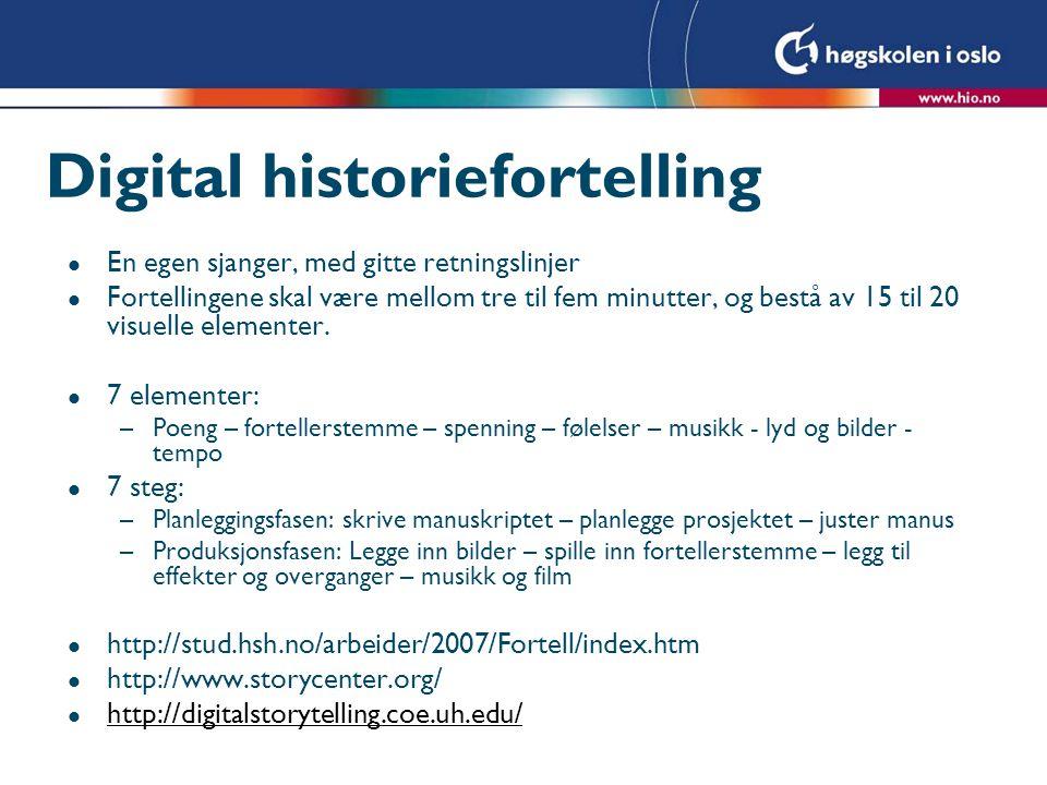 Digital historiefortelling