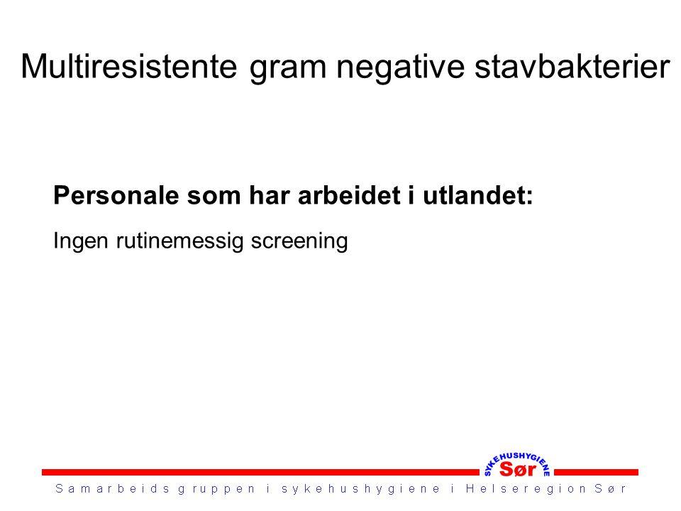 Multiresistente gram negative stavbakterier