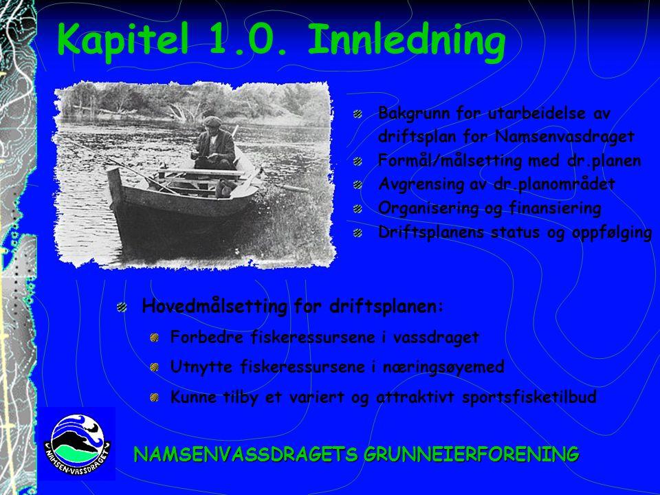 Kapitel 1.0. Innledning Hovedmålsetting for driftsplanen: