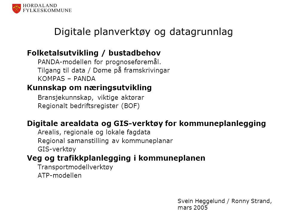 Digitale planverktøy og datagrunnlag