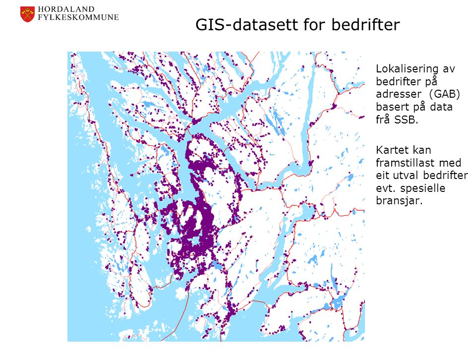 GIS-datasett for bedrifter