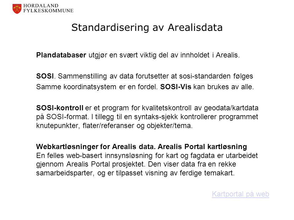 Standardisering av Arealisdata