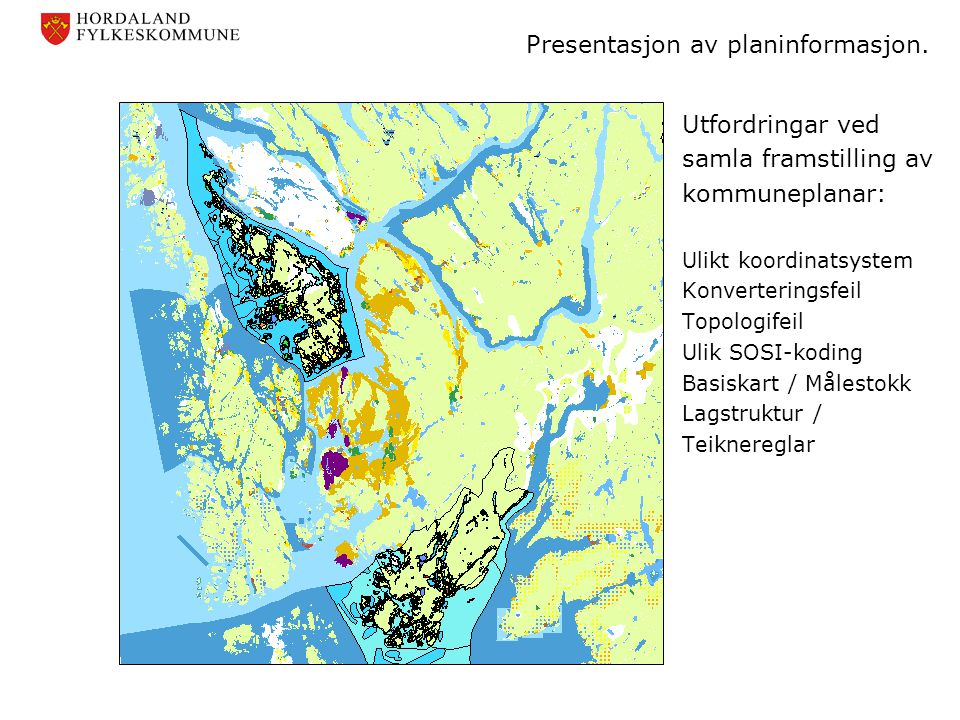 Presentasjon av planinformasjon.