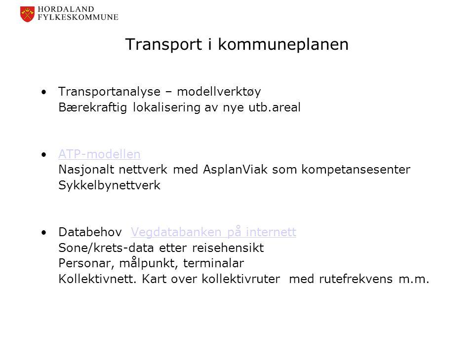 Transport i kommuneplanen