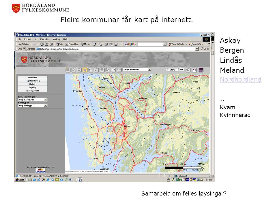 Fleire kommunar får kart på internett.