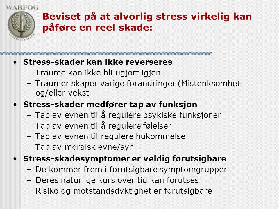 Beviset på at alvorlig stress virkelig kan påføre en reel skade: