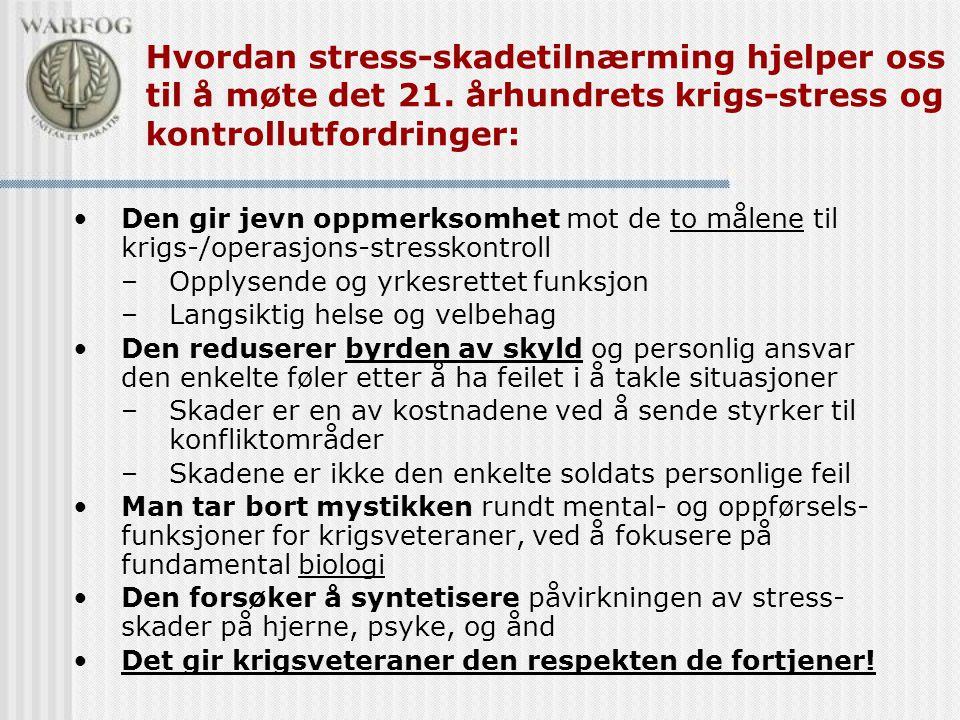 Hvordan stress-skadetilnærming hjelper oss til å møte det 21