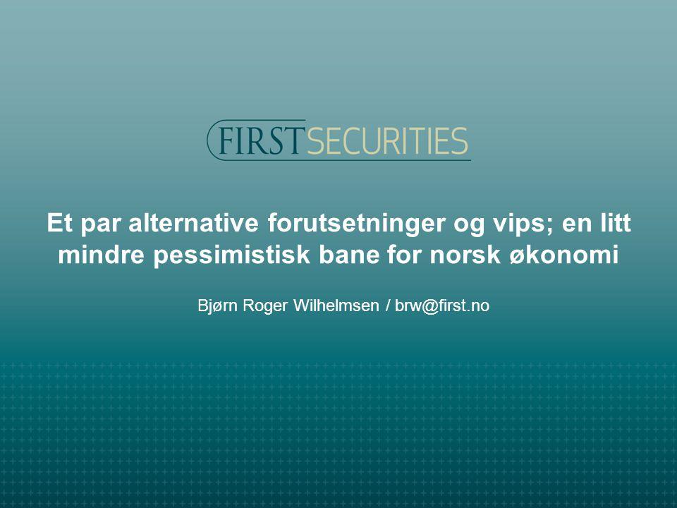 Et par alternative forutsetninger og vips; en litt mindre pessimistisk bane for norsk økonomi