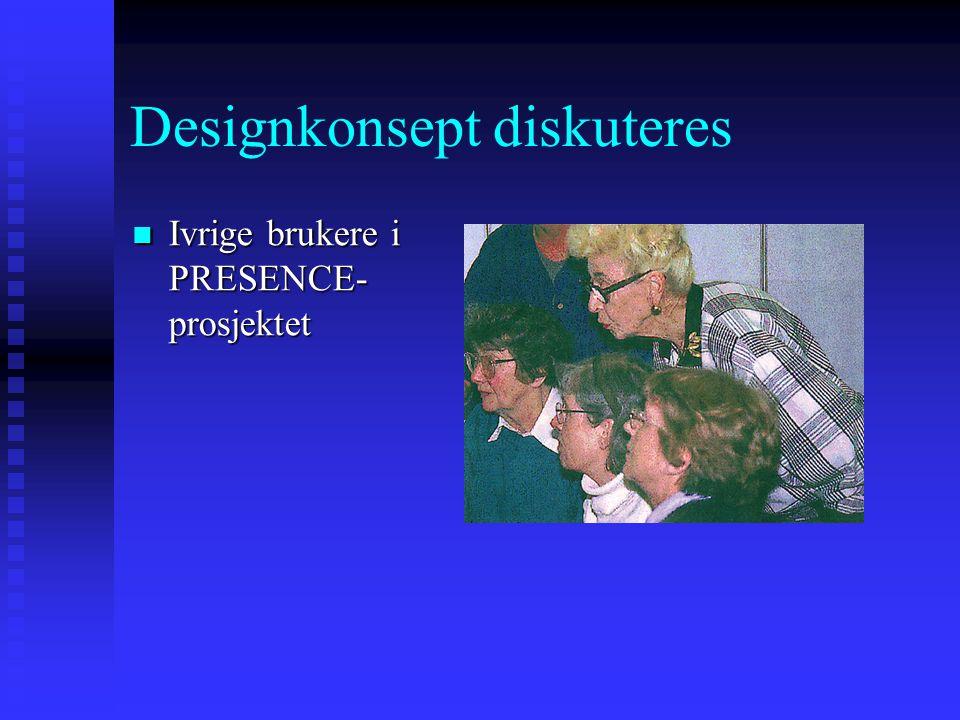 Designkonsept diskuteres