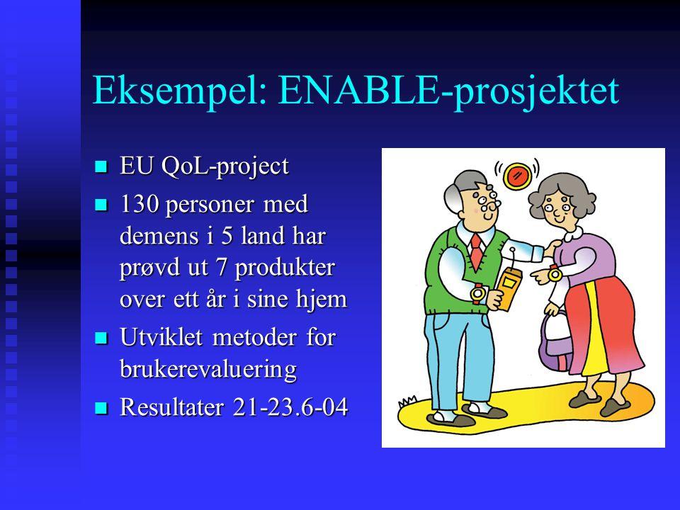 Eksempel: ENABLE-prosjektet