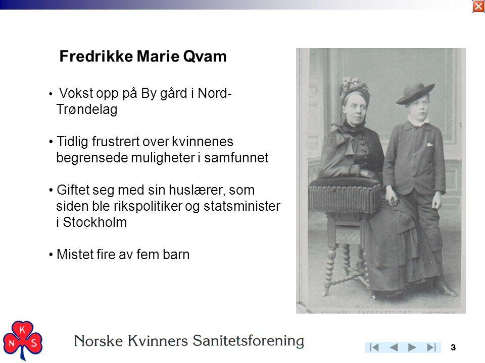 Fredrikke Marie Qvam Trøndelag Tidlig frustrert over kvinnenes