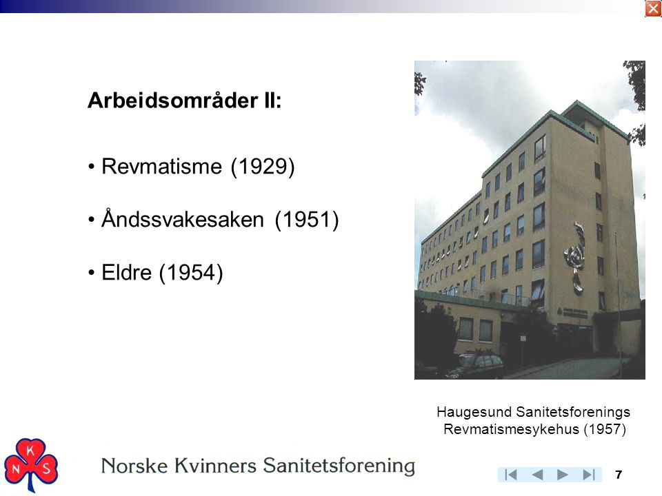 Haugesund Sanitetsforenings Revmatismesykehus (1957)