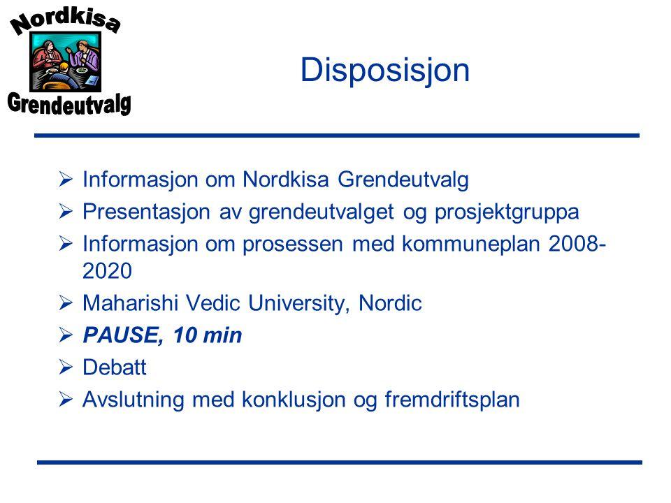 Disposisjon Informasjon om Nordkisa Grendeutvalg
