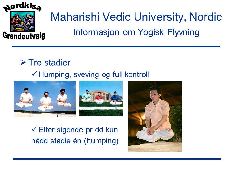 Maharishi Vedic University, Nordic Informasjon om Yogisk Flyvning