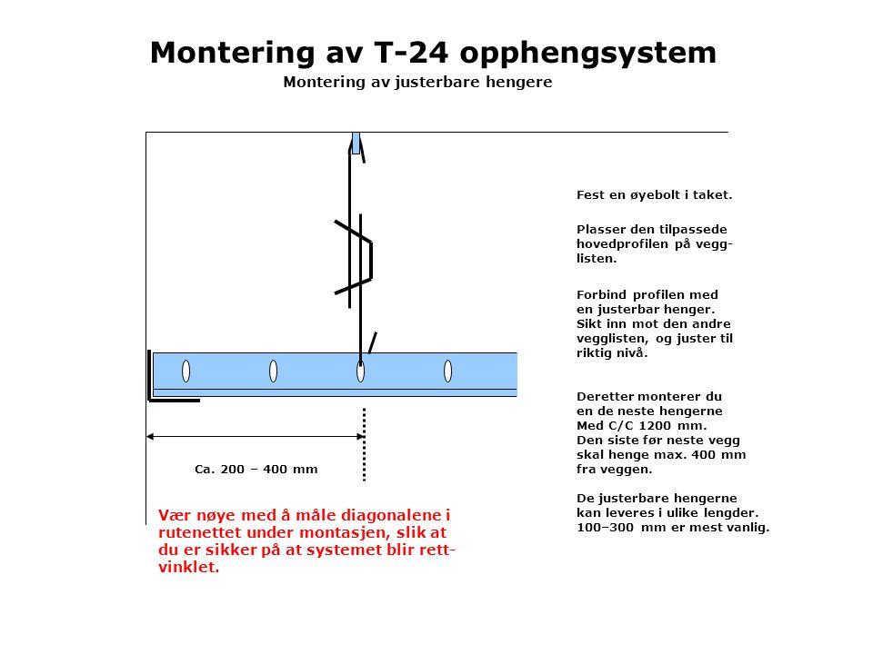 Montering av T-24 opphengsystem Montering av justerbare hengere