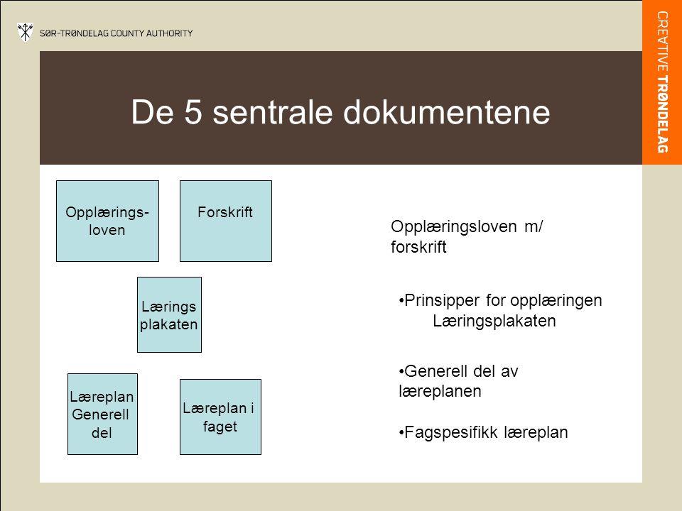De 5 sentrale dokumentene