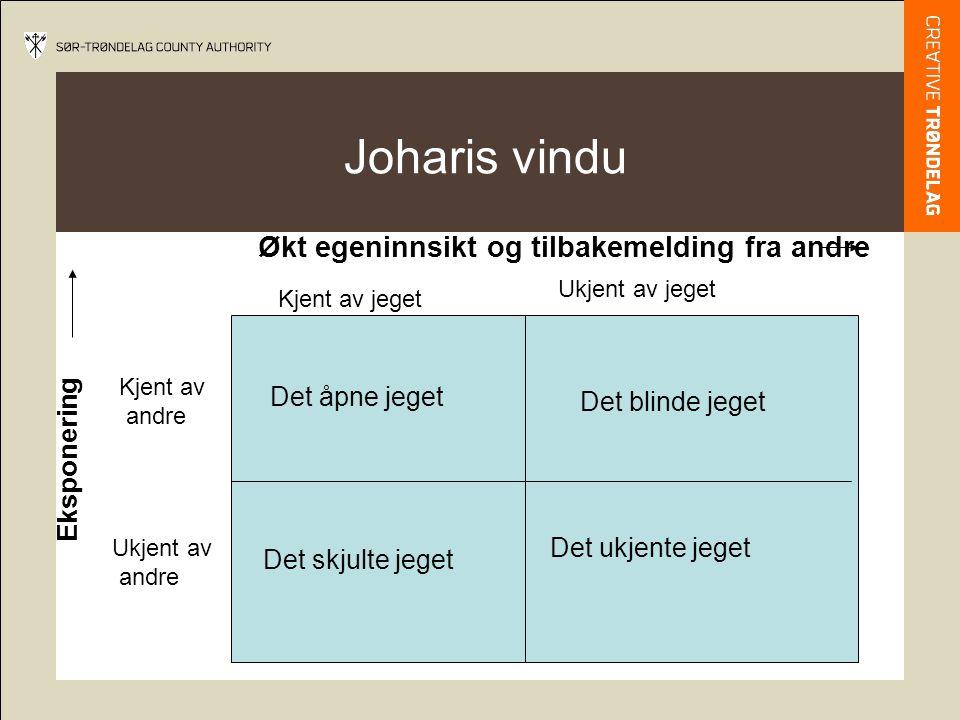Joharis vindu Økt egeninnsikt og tilbakemelding fra andre Eksponering