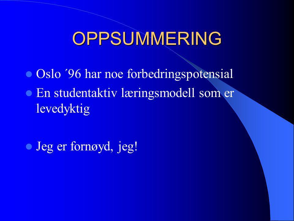OPPSUMMERING Oslo ´96 har noe forbedringspotensial