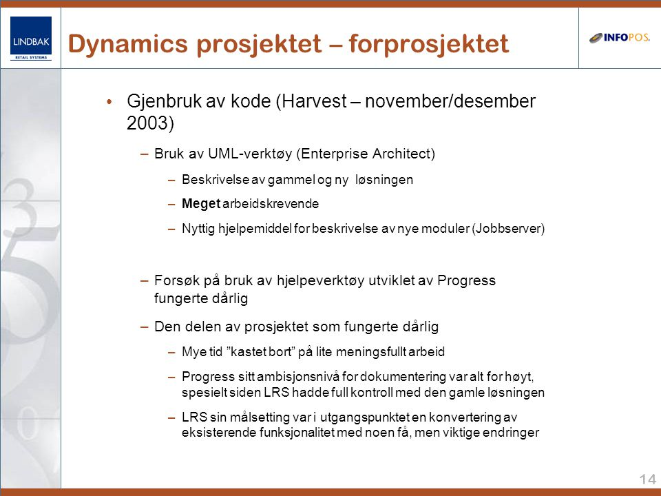 Dynamics prosjektet – forprosjektet