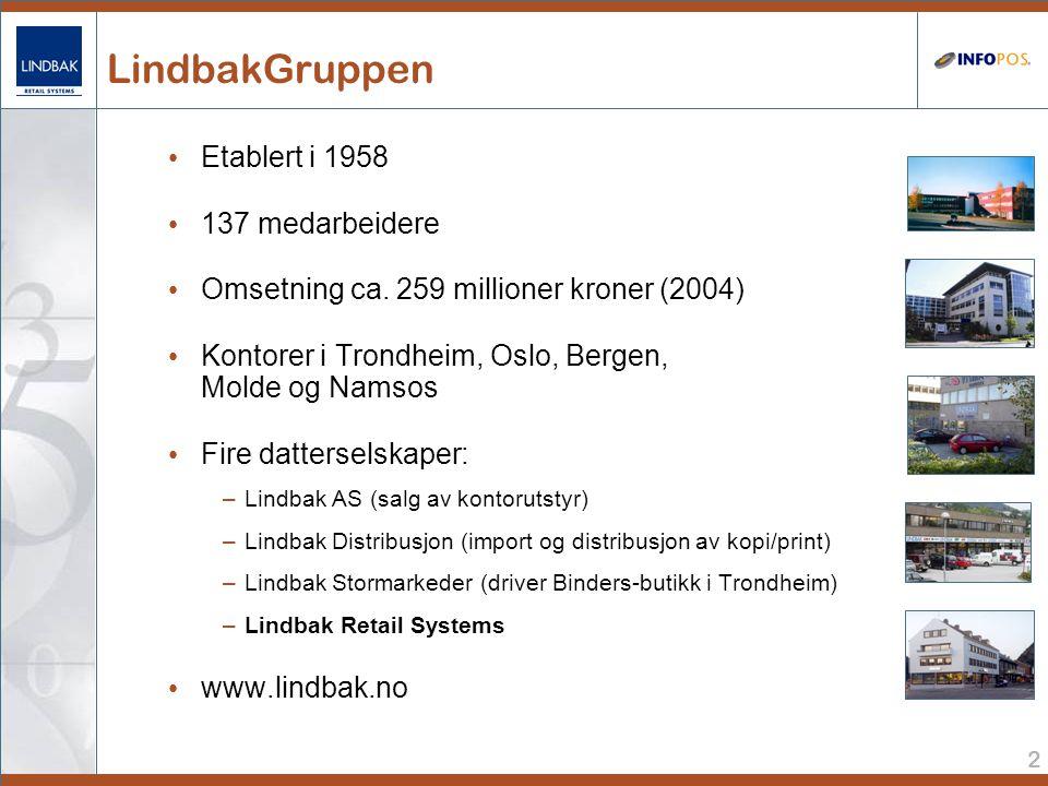 LindbakGruppen Etablert i 1958 137 medarbeidere