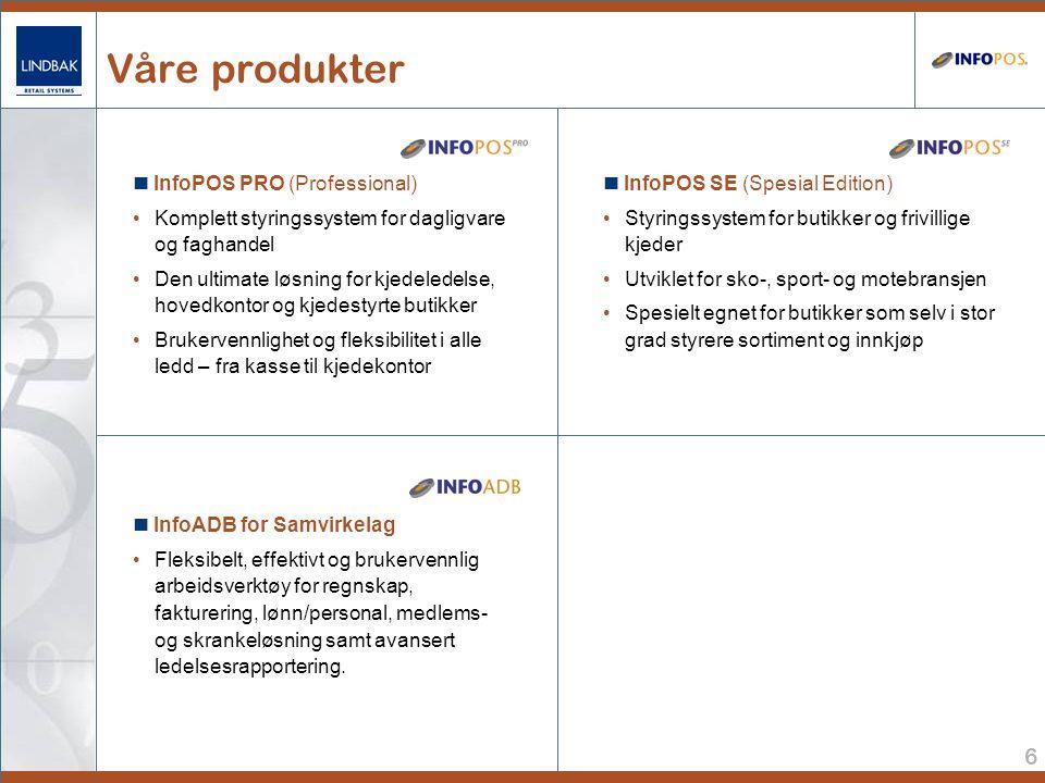 Våre produkter  InfoPOS PRO (Professional)