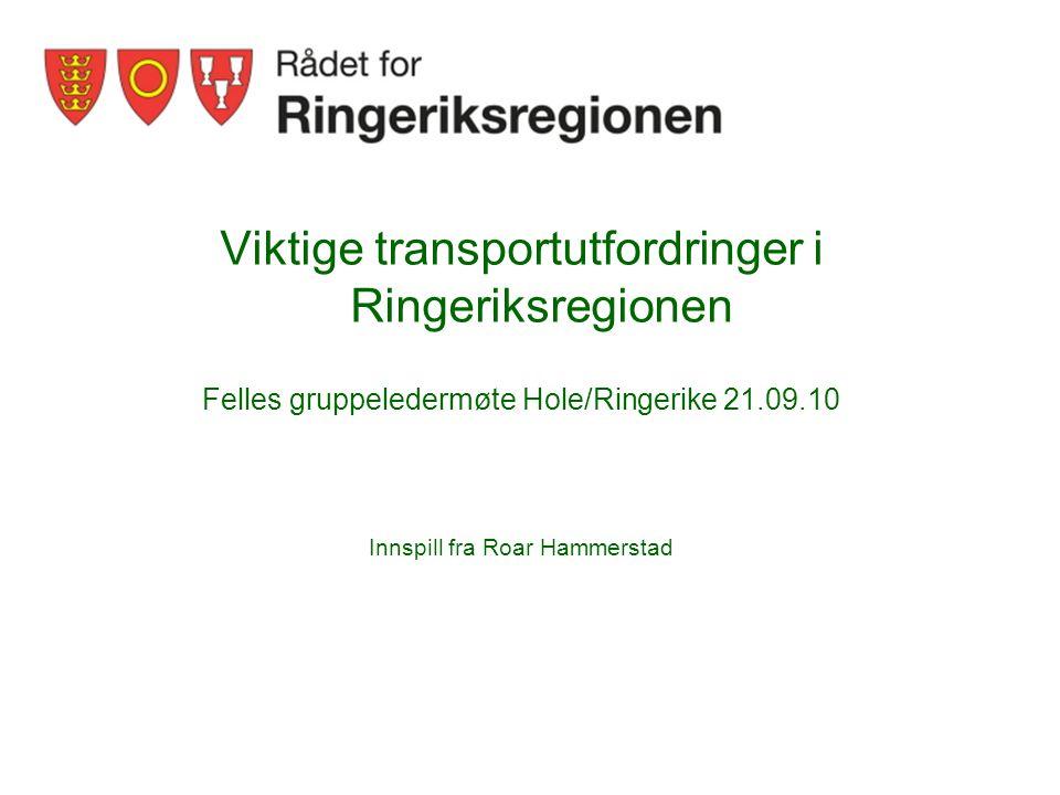Viktige transportutfordringer i Ringeriksregionen