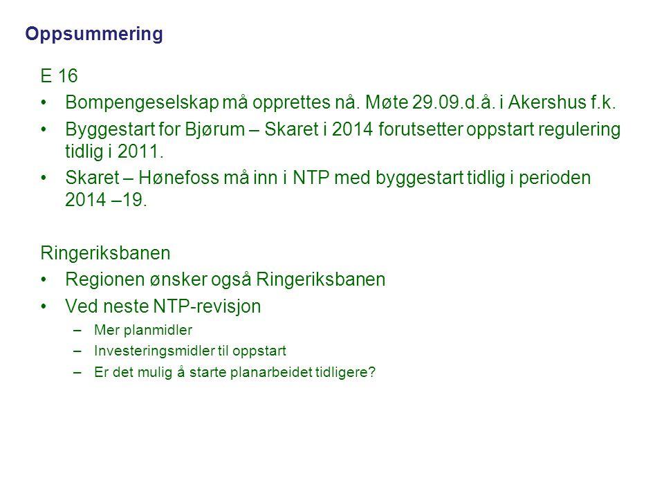 Bompengeselskap må opprettes nå. Møte 29.09.d.å. i Akershus f.k.
