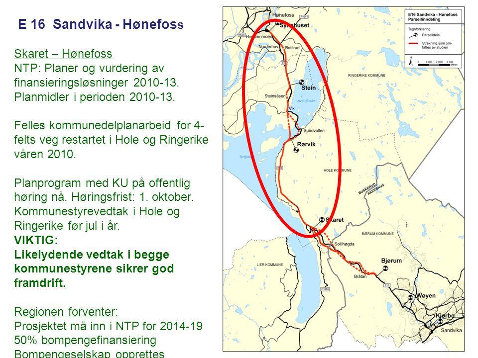 E 16 Sandvika - Hønefoss Skaret – Hønefoss