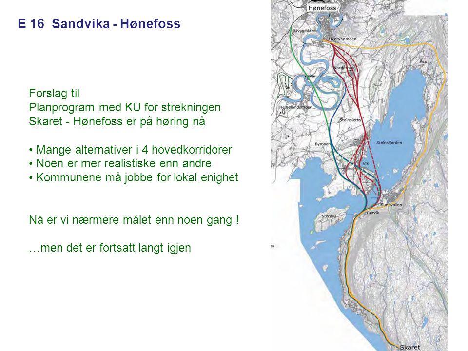 E 16 Sandvika - Hønefoss Forslag til