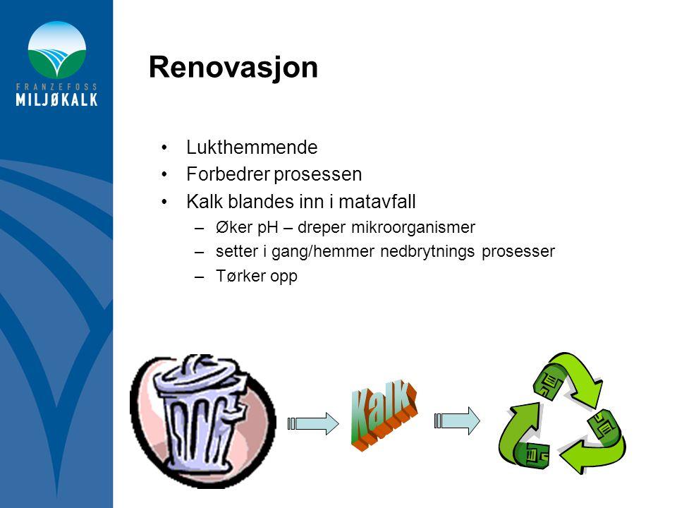 Kalk Renovasjon Lukthemmende Forbedrer prosessen