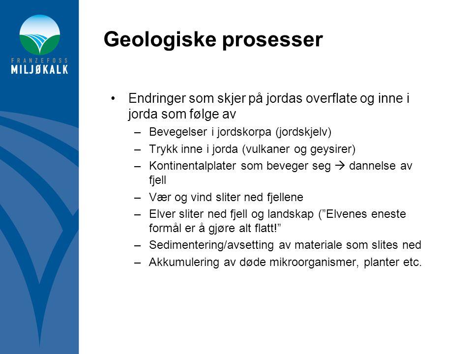 Geologiske prosesser Endringer som skjer på jordas overflate og inne i jorda som følge av. Bevegelser i jordskorpa (jordskjelv)