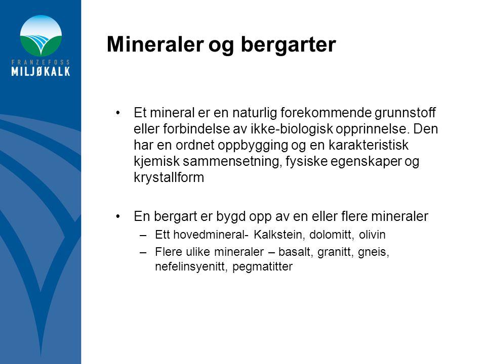 Mineraler og bergarter