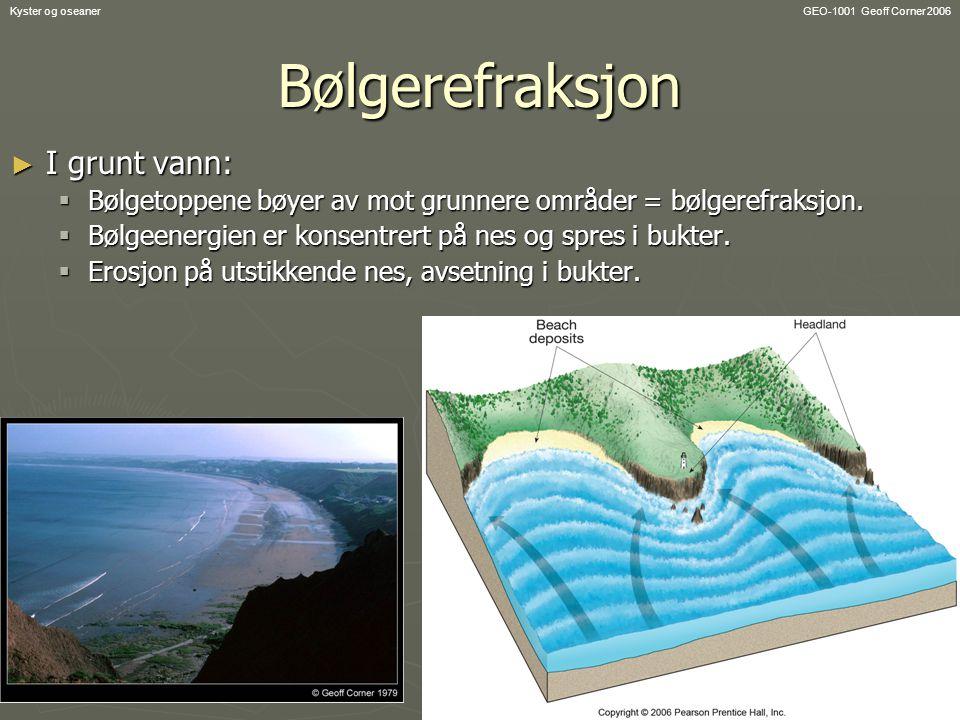 Bølgerefraksjon I grunt vann: