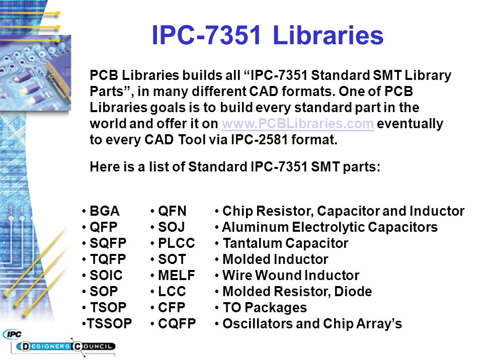 IPC-7351 Libraries