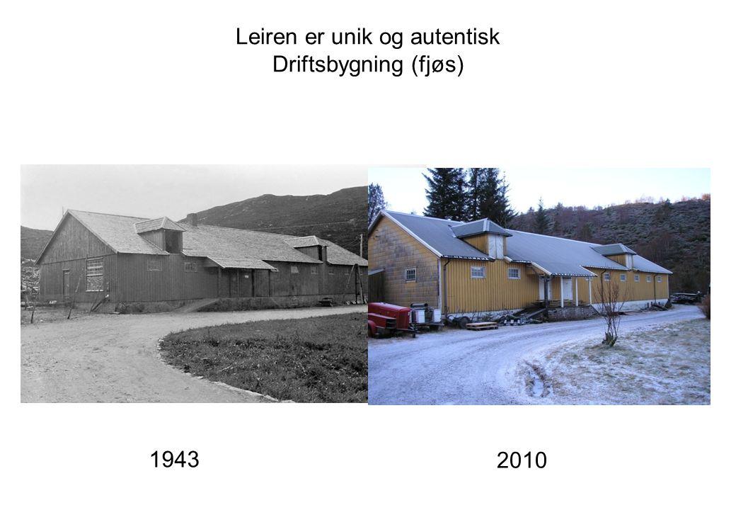 Leiren er unik og autentisk Driftsbygning (fjøs)