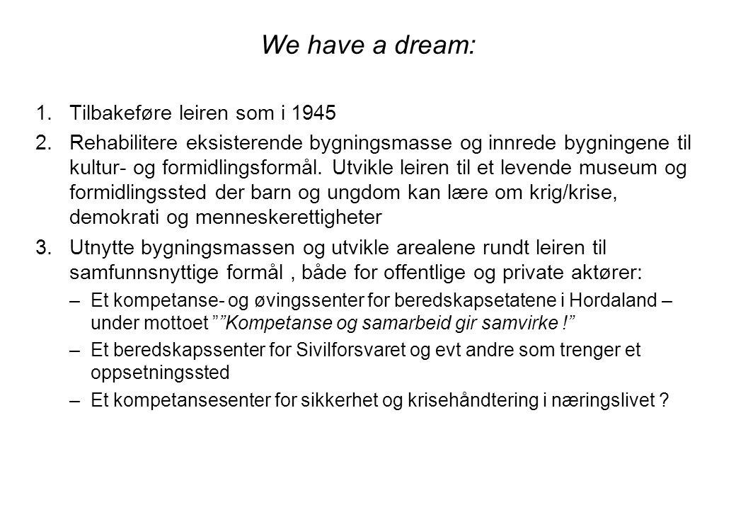 We have a dream: Tilbakeføre leiren som i 1945