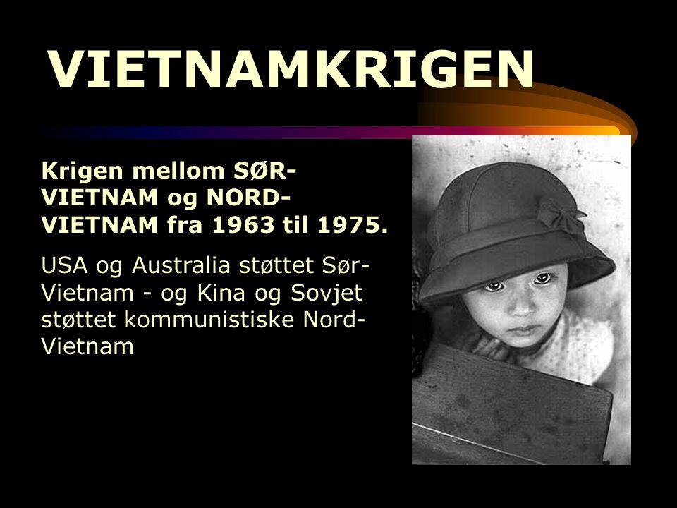 VIETNAMKRIGEN Krigen mellom SØR-VIETNAM og NORD-VIETNAM fra 1963 til 1975.