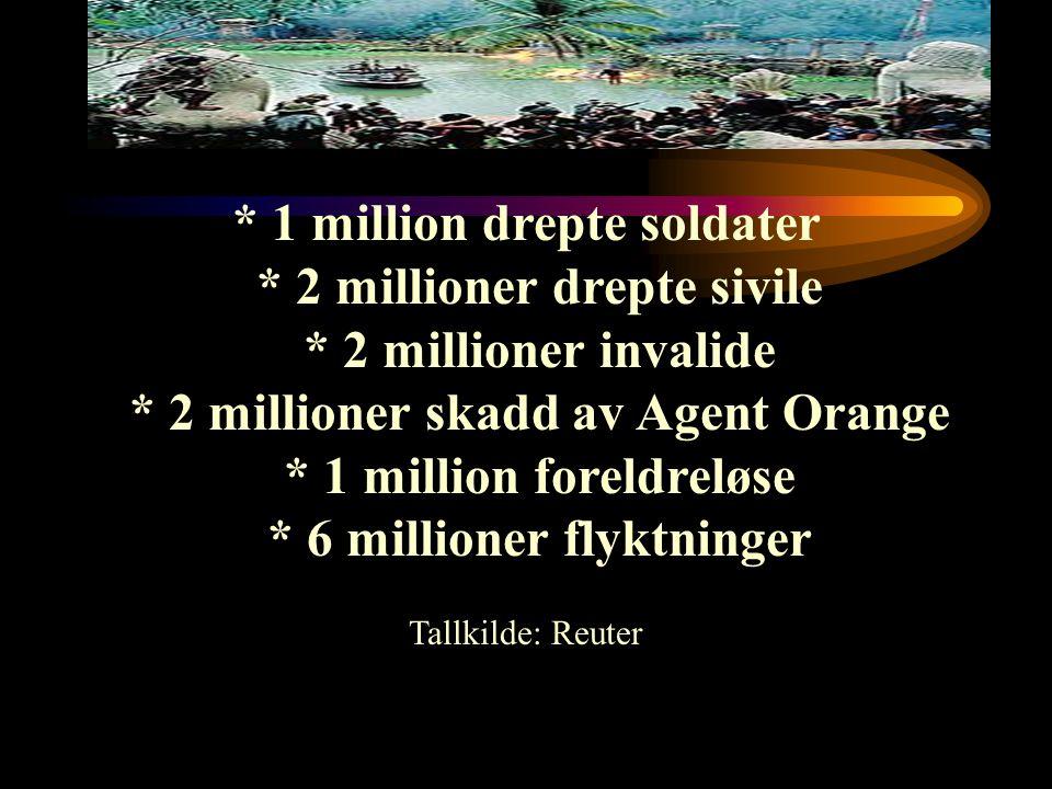 1 million drepte soldater. 2 millioner drepte sivile