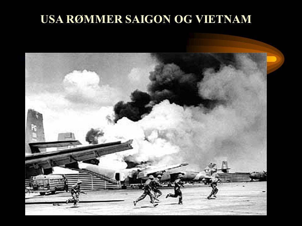 USA RØMMER SAIGON OG VIETNAM