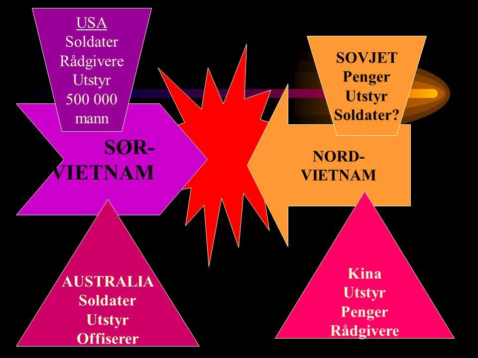 SØR- VIETNAM USA Soldater Rådgivere Utstyr SOVJET 500 000 Penger mann