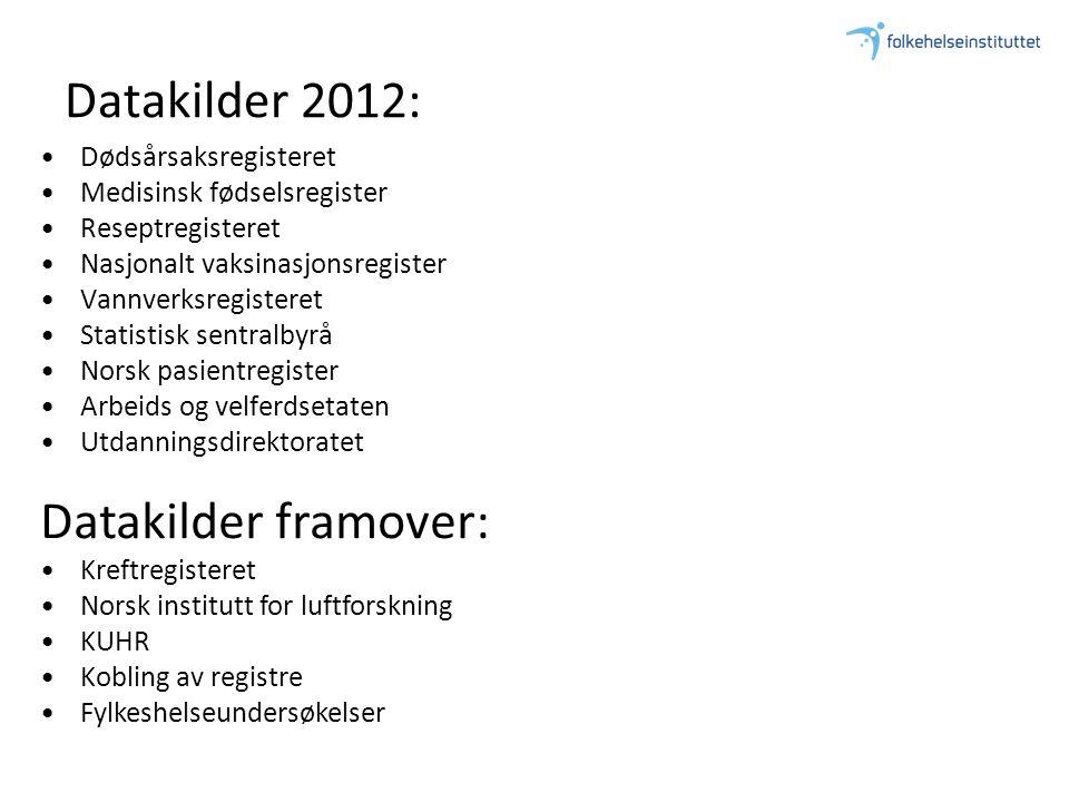 Datakilder 2012: Datakilder framover: Dødsårsaksregisteret