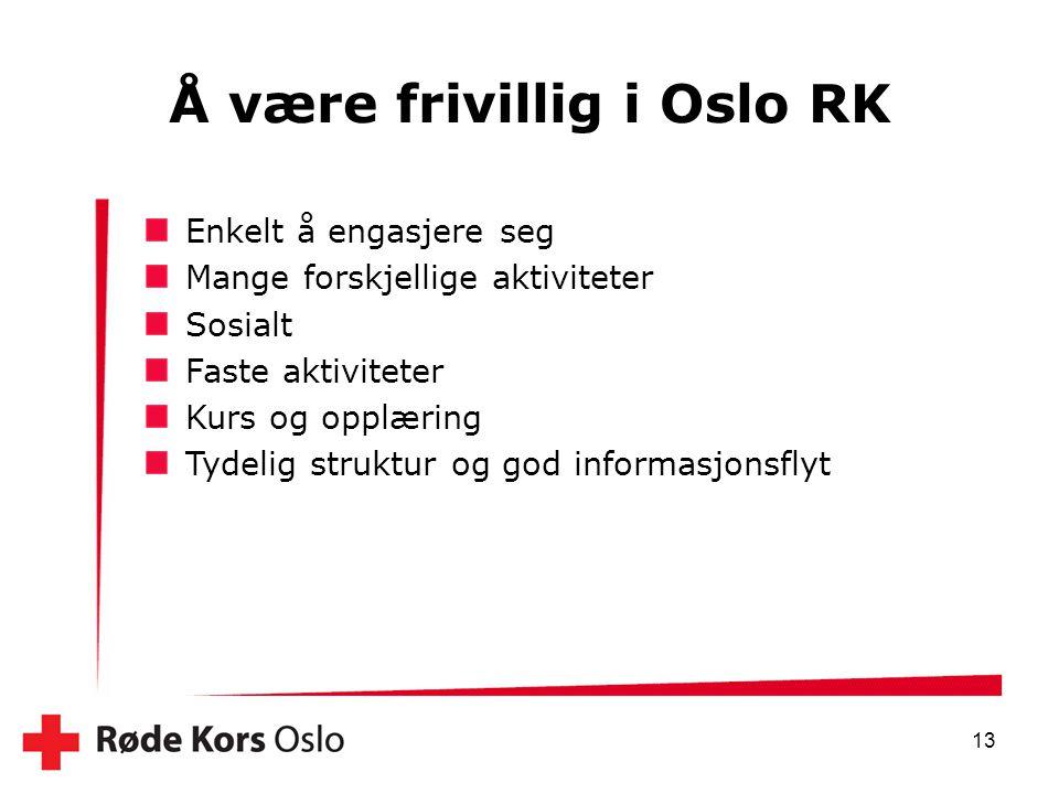 Å være frivillig i Oslo RK