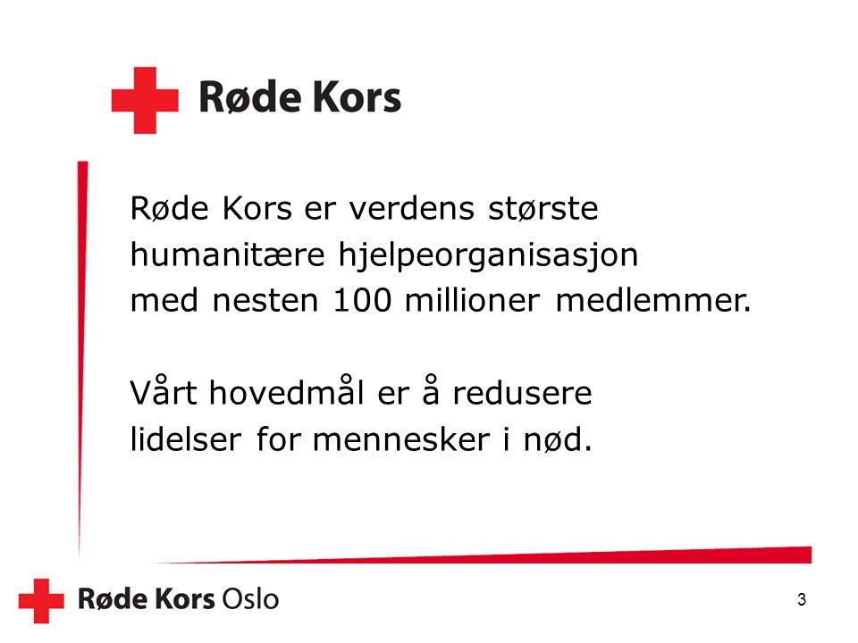 Røde Kors er verdens største humanitære hjelpeorganisasjon