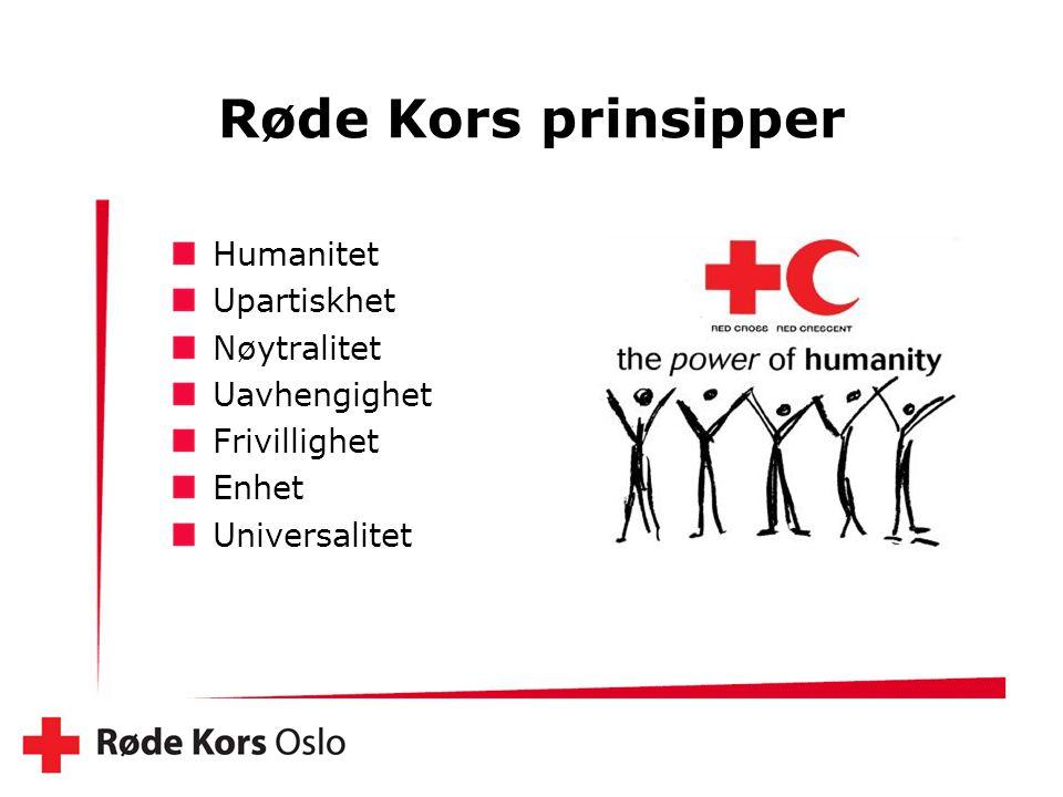 Røde Kors prinsipper Humanitet Upartiskhet Nøytralitet Uavhengighet