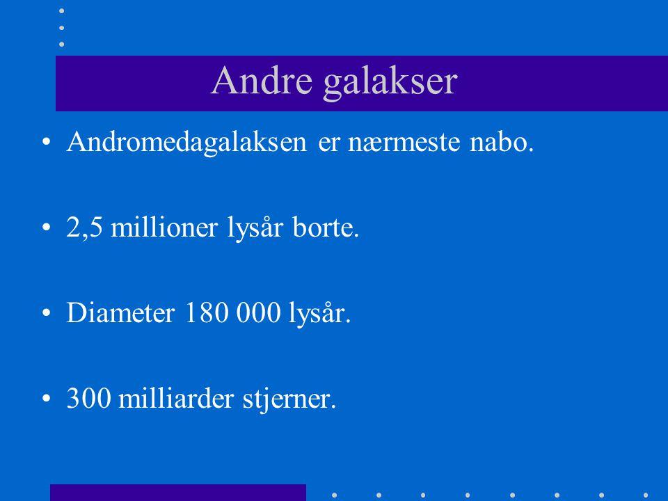 Andre galakser Andromedagalaksen er nærmeste nabo.
