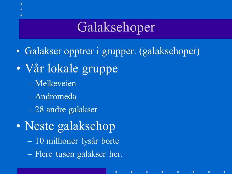 Galaksehoper Vår lokale gruppe Neste galaksehop