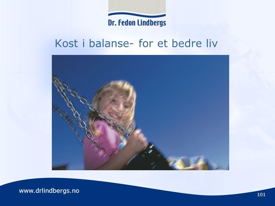 Kost i balanse- for et bedre liv