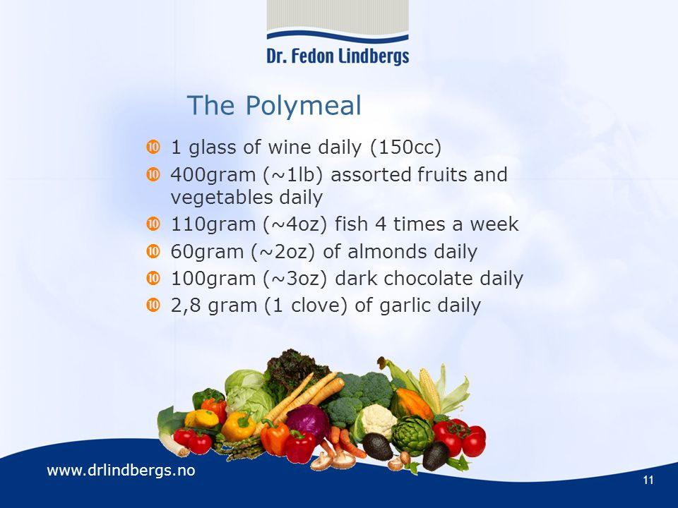 The Polymeal 1 glass of wine daily (150cc)