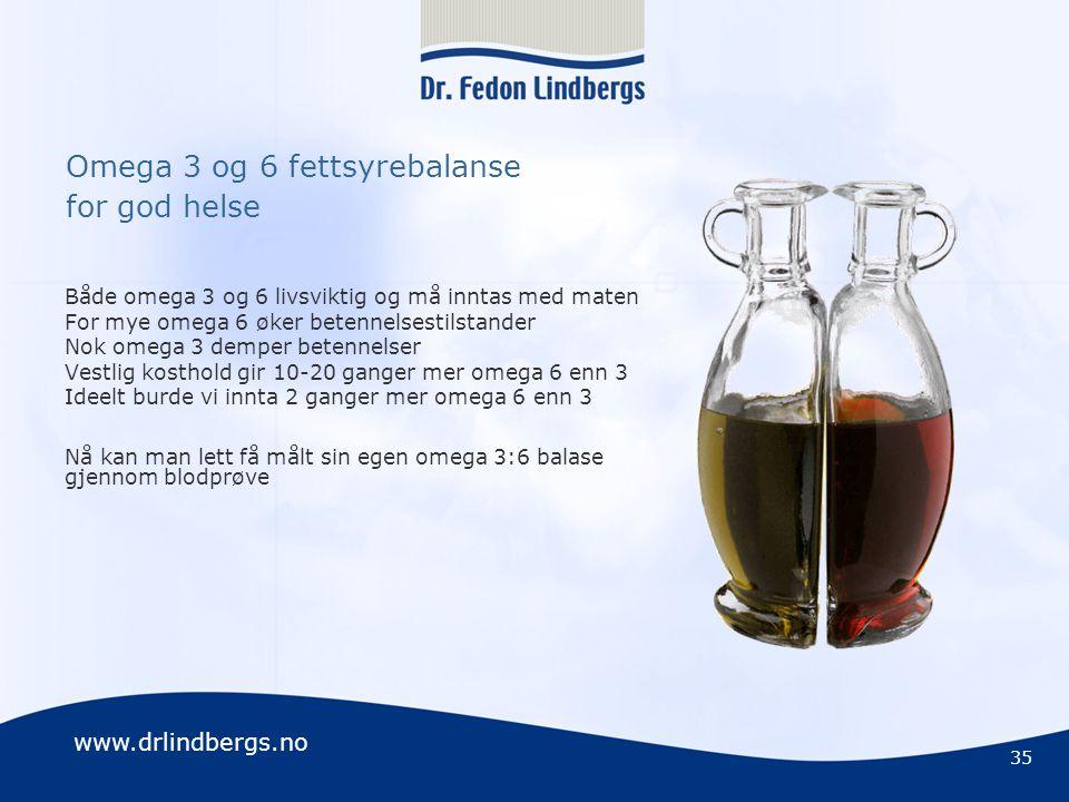 Omega 3 og 6 fettsyrebalanse for god helse