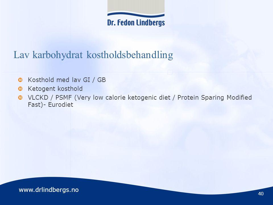 Lav karbohydrat kostholdsbehandling